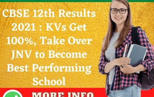 CBSE 12th Results 2021 KVs Get 100%, Take Over JNV to Become Best Performing School